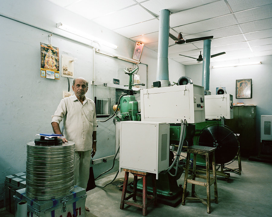 K.Balasubramaniam, projectionniste du cinema Jenty de Chennai