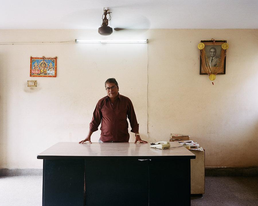 R.Basker, gérant du Cinéma Pilot de Chennai