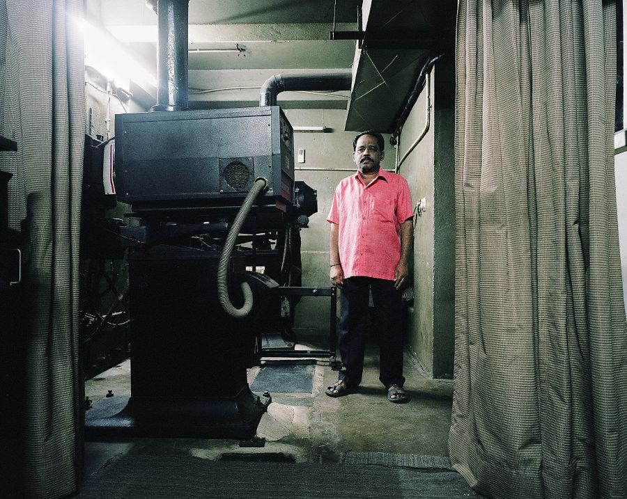 Milten, projectionniste du Cinema Anna de Chennai