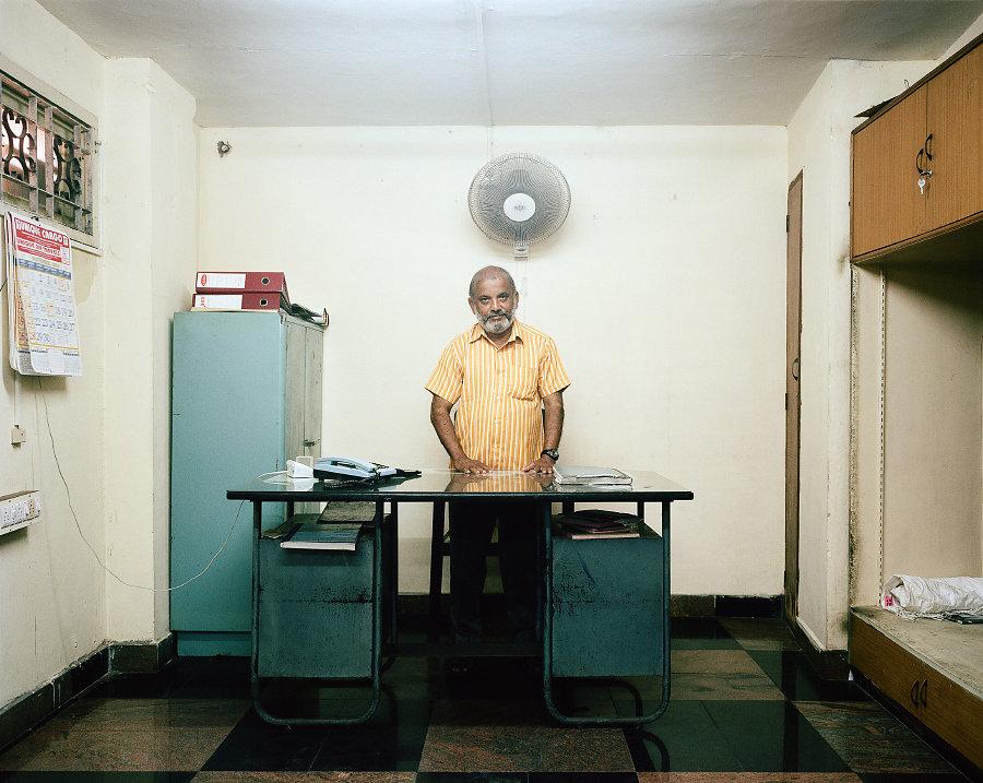 Akber, projectionniste du Cinéma Anna de Chennai