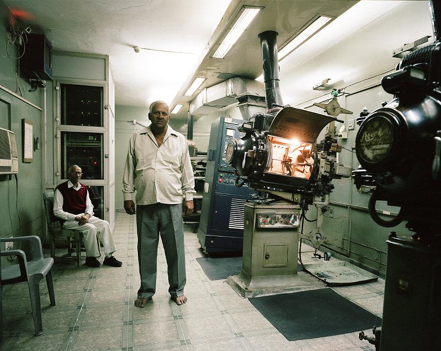 Hukam Sangh, projectionniste du Cinema Liberty de Delhi